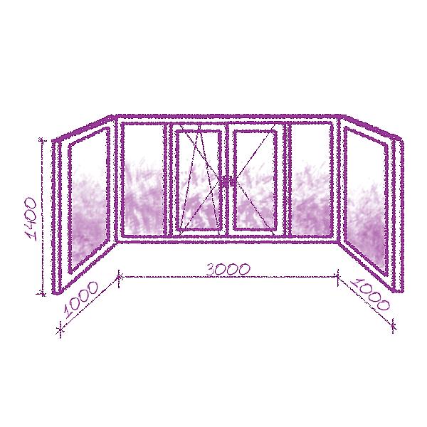 П-образный балкон в немецком профиле класса А