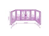 Фото  1 П-образный балкон в немецком профиле класса А 1444786