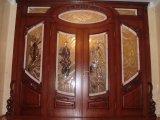Шикарные Двери с Резьбой и Витражом