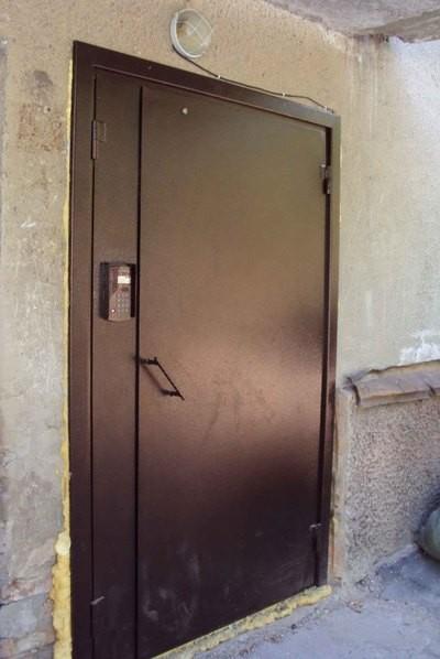 металлическая дверь под домофон