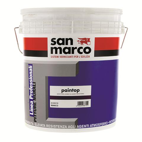 Paintop (Италия)Акриловая фасадная краска с мелким кварцовым песком для наружных и внутренних работ.8-10м2/л
