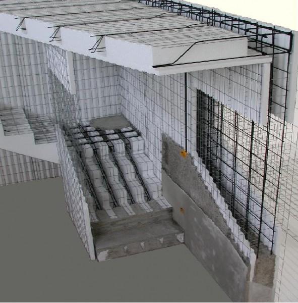 Панели несъёмной опалубки Betterbud, армированные, для недорогого энергосберегающего монолитного строительства.