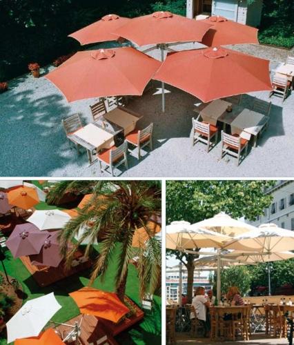 Зонты для кафе, высокое качество и надежность, ветроустойчивость