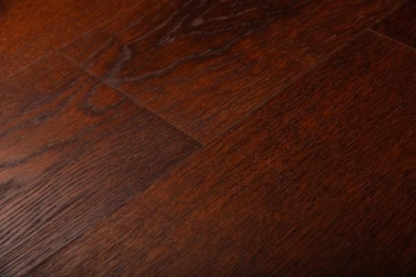 Паркет Дубовый массивный темный кофе под лаком с микро фаской