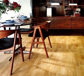 Паркет штучный высококачественный с экологически чистой древесины300-350х50- 70х15 - натур.