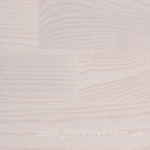 Паркетная доска Befag Ясень Жемчужно белый (лак)3-полосный дизайн. Размер 2200*192*14мм.