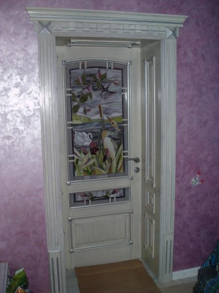 Двери массив, Паянный Витраж