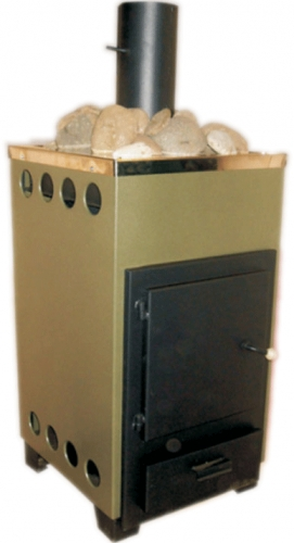 Печь-каменка с обшивкой и встроенным отсеком для камней внутренняя - ДПК-8