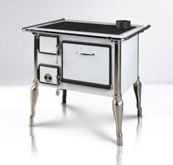 Печь отопительно-варочная с духовкой. FIKO 70 Nostalgia в белом или черном цвете