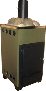 Печи каменки в Донецке, для сауны, бани на твердом топливе. ДПК-8 внутренняя в корпусе.
