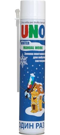 Пена монтажная зимняя UNO Manual Work Winter