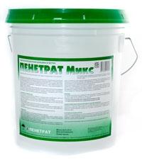ПЕНЕТРАТ МИКС - добавка гидроизоляционная проникающая. Дозировка - 1% от массы цемента.