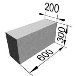 Пенобетон 200х300х600мм