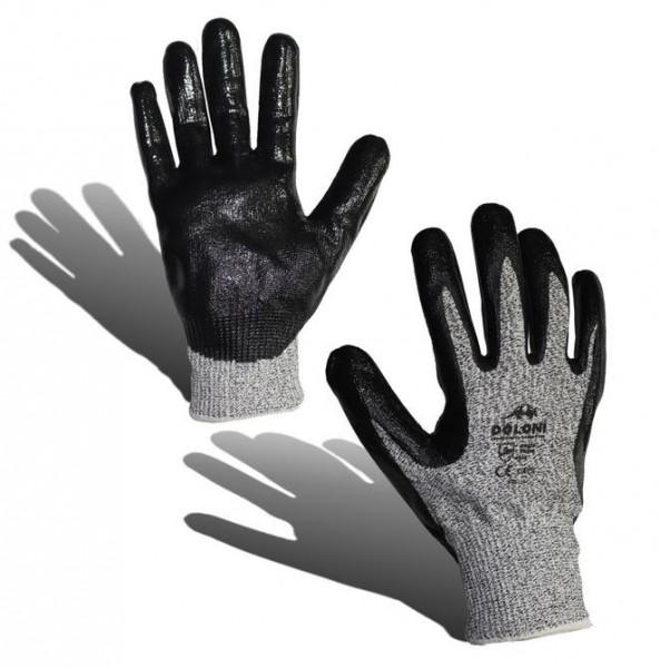 Перчатки х/б, покрытые нитрилом (антипорез) к.4520