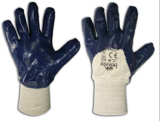 Перчатки х/б, покрытые нитрилом к051