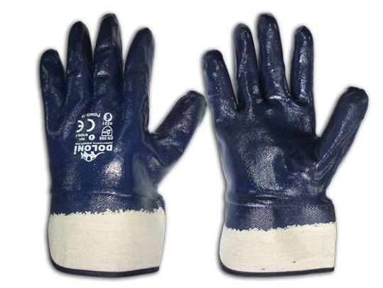 Перчатки х/б покрытые нитрилом к054