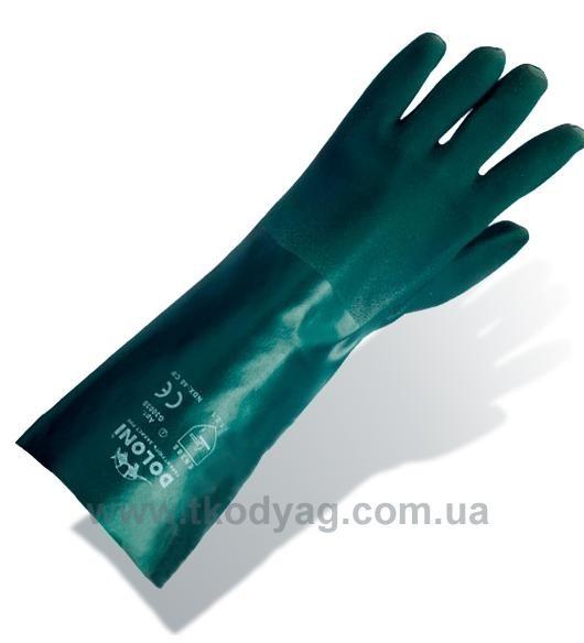 Перчатки из ПВХ 40см (антискользящее двойное покрытие)