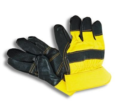 Перчатки комбинированные х/б-кожа (хром)