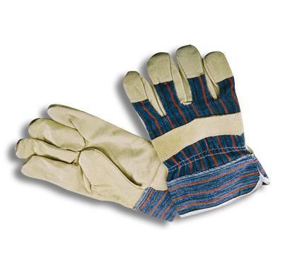 Перчатки комбинированные х/б-кожа (спилок)