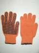 Перчатки рабочие трикотажные с ПВХ точкой оранжевые