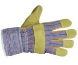 Перчатки STern - Ладонь из желтого телячьего спилка, тыльная сторона и манжет из хлопка, текстильная подкладка.