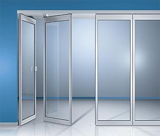 Перегородки гармошка (складывающиеся перегородки), двери гармошка