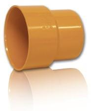 Переход ПВХ-чугун для безнапорной внешней канализации D 110 х 124 мм