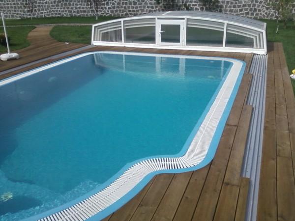 Переливной композитный бассейн. Размер:3500•6500•155 0