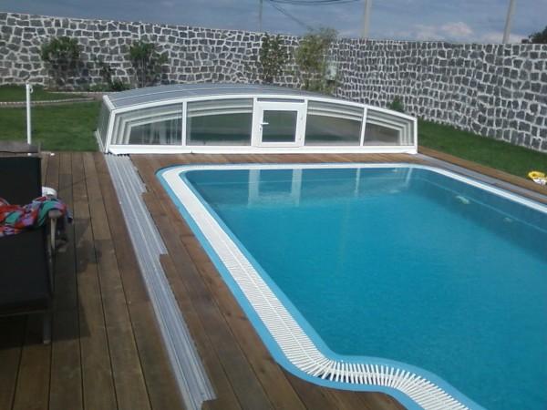 Переливной композитный бассейн. Размер:3800•7600•155 0