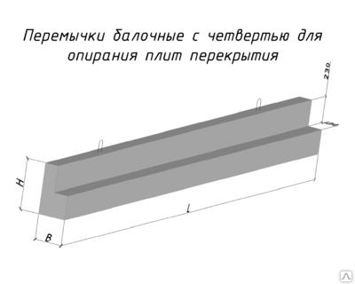 Перемычки железобетонные балочные 2 ПГ 44-31