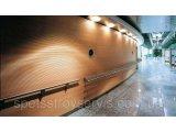 Фото  1 Перфорированная шпонированная панель из MDF Decor Acoustic 30/2 2400*576*17 мм зебрано 2246148