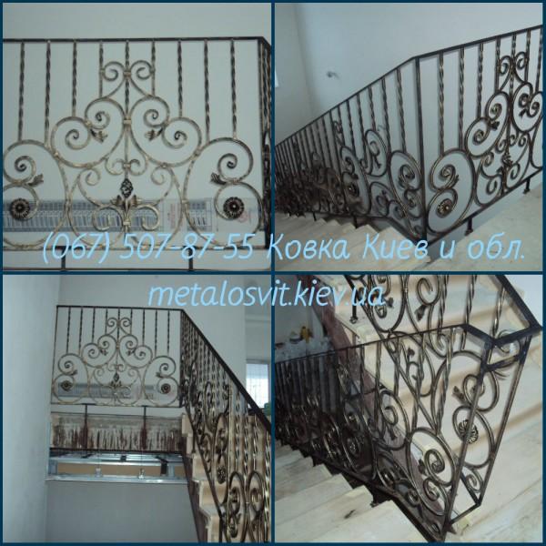 Перила для лестниц под заказ ковка