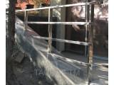 Перила из нержавеющей стали с профильной (прямоугольной трубы) от 1 м. п. с установкой по всей Украине