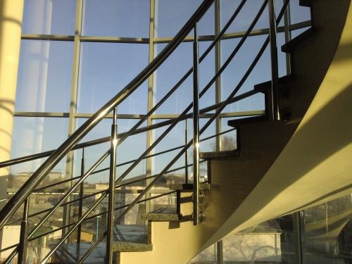 Перила, поручень, ограждение, балкон Н/Ж сталь. Зеркальная полировка.