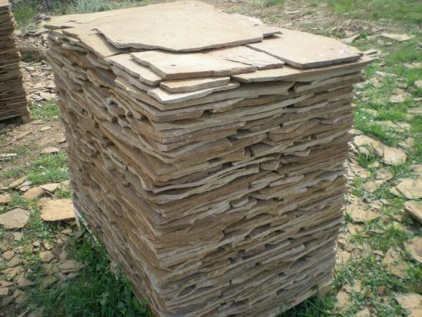 Песчаник цвет: коричневый, для наружной и внутренней отделки.