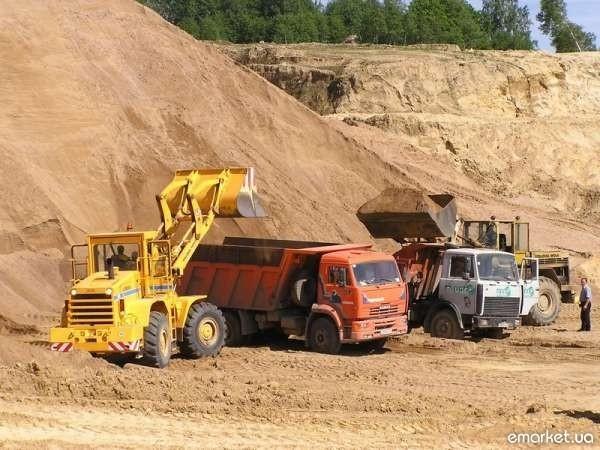 Песок овражный с доставкой по Киеву и Киевской обл.