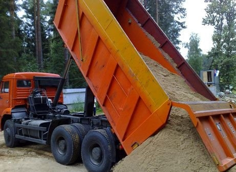 песок речной и овражный машинная норма 6т-35т
