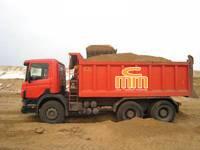 Песок речной тонными нормами: 5т – 580 грн 10т – 930 грн 15т – 1290 грн цены указаны с учетом доставки