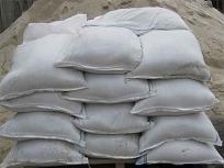 Песок речной, в мешках, фасованный по 50кг-мешок, с доставкой по Киеву и Области.