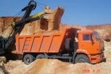 Песок строительный, речной, кварцевый фракционированный навалом и в мешках. Донецк.