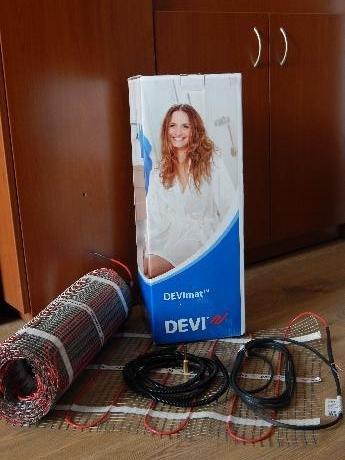 Фото  1 Нагревательный мат DEVImat 3,5м.кв./525Вт, теплый пол Devi (Дания) 1864764