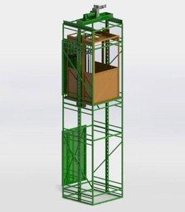 Фото 2 Метало каркас для фасадного подъемника лифта (ограждение) 331560