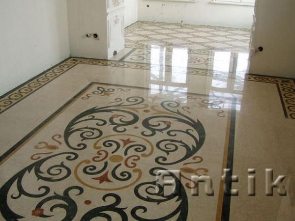 Підлога з мармурами. Підлога з граніту .