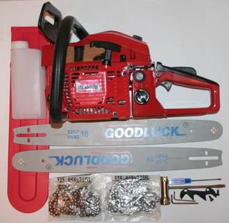 Пила цепная бензиновая (бензопила) Goodluck GL 4500 2,7 л/с (2 шины и 2 цепи)