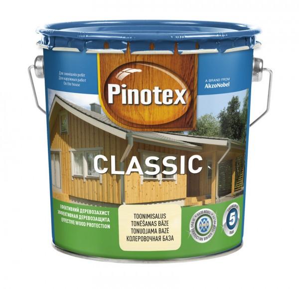 Деревозащитное средство Pinotex Classic подчеркивает природную текстуру дерева и обладает антисептическим действием.