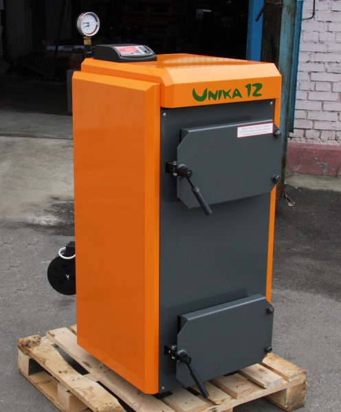 Пиролизные котлы КОТэко Unika мощности 15,20,30,40,50,100,150 кВт.
