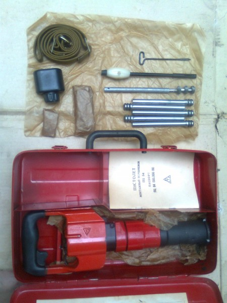 Пистолет монтажный ПЦ-84 под дюбель-гвоздь 4,5х30, 40, 50, 60, 80мм для пристрелки сеток, фанеры, опалубки, полос