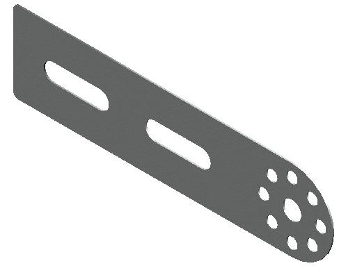 Планка соединительная для крепления лотка кабельного оцинкованная