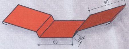 Планка внутреннего стыка 2м