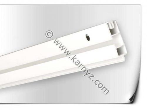 Пластиковый потолочный Карниз ОМ1 одинарный 1,5м, Белый, 16 грн.